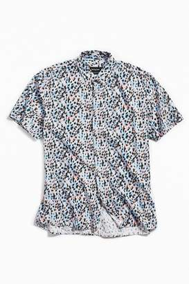 Barney Cools Disco Leopard Short Sleeve Button-Down Shirt