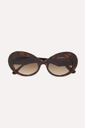 Dolce & Gabbana Oval-frame Tortoiseshell Acetate Sunglasses