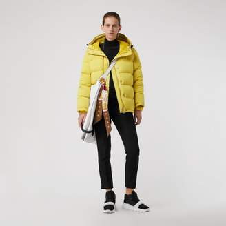 Burberry Archive Logo Down-filled Hooded Puffer Jacket , Size: M, Yellow
