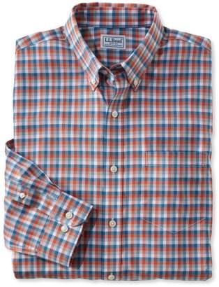 L.L. Bean L.L.Bean Wrinkle-Free Kennebunk Sport Shirt, Slim Fit Check