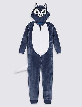 Marks and Spencer Hooded Husky Onesie (1-16 Years)