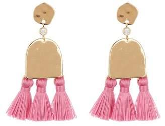 Ettika Geo Tassel Earrings