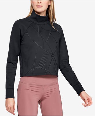 Under Armour Mock-Neck Cropped Top