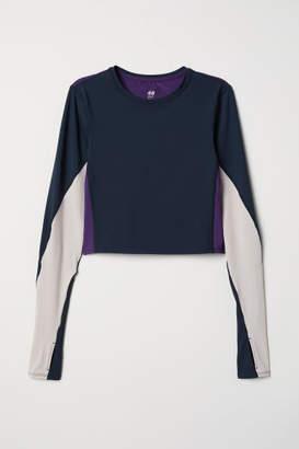 H&M Short Yoga Top - Blue