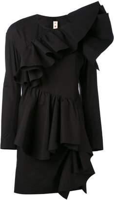 Marni ruffle front mini dress