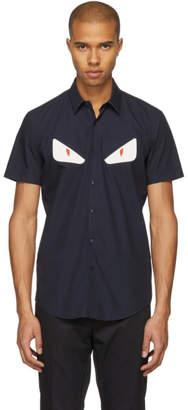Fendi Navy Short Sleeve Bag Bugs Shirt