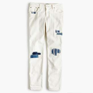 J.Crew Sean Hornbeak for slim boyfriend jean with indigo patches in white