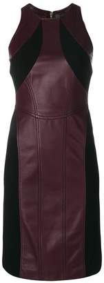 Versace panelled leather dress