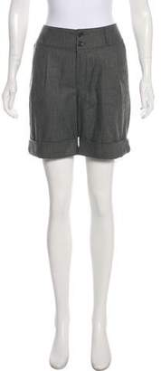 See by Chloe Rib Knit Accented Knee-Length Shorts