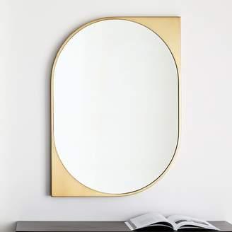 west elm Cat Eye Metal Wall Mirror