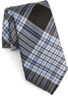 Calibrate Hogarth Plaid Silk Tie