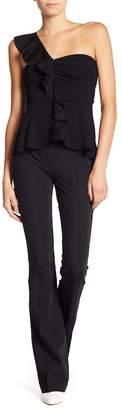 Veronica Beard Hibiscus High Waist Flare Pants