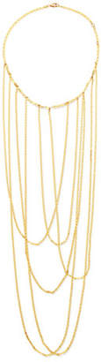 Lana 14k Big Stiletto Choker Chain Necklace