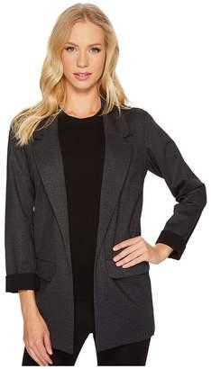 Liverpool Boyfriend Blazer in Heather Tweed Ponte Knit Women's Jacket