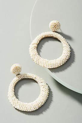 Deepa Anya Beaded Hoop Drop Earrings