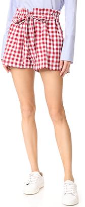 MLM LABEL Sahara Tie Shorts $143 thestylecure.com