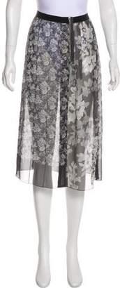 Marc Jacobs Sheer Floral Print Skirt