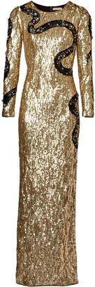 Gold Snake Liquid Sequin Gown