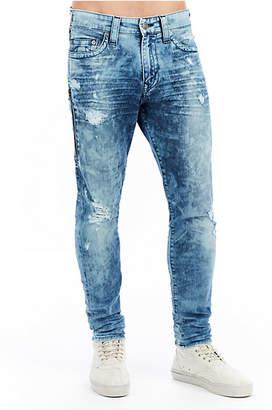 True Religion Mens Side Zipper Mick Slouchy Skinny Jean