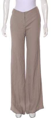 Ramy Brook Lincoln Crepe Mid-Rise Pants