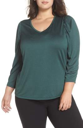 Sejour V-Neck Puff Shoulder Top
