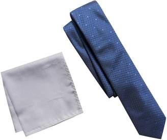 Apt. 9 Men's Patterned Skinny Tie & Solid Pocket Square Set