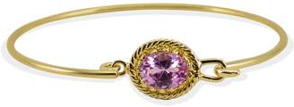 Vintouch Italy - Luccichio Pink Agate Cuff Bracelet