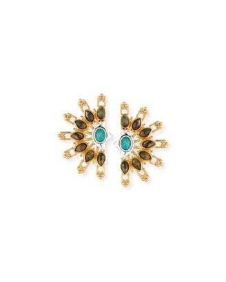 Lulu Frost Marjorelle Cabochon Statement Earrings $235 thestylecure.com