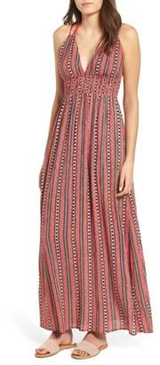 Band of Gypsies Print Halter Maxi Dress