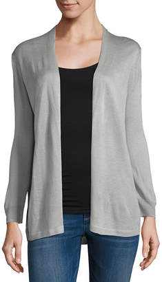 Liz Claiborne Long Sleeve Cardigan - Tall
