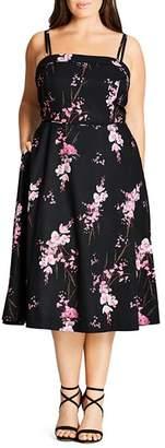 City Chic Plus Holiday Romance Dress