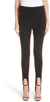 Calvin Klein Side Stripe Stretch Wool Stirrup Leggings