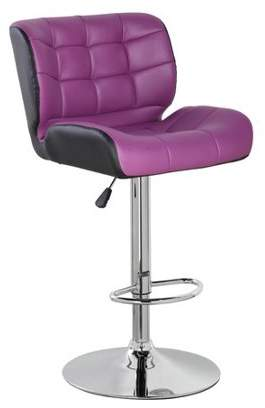 Generic PU Leather Height Adjustable Swivel Bar Stool with Thick Padded Back and Seat(5082), Multiple Colors