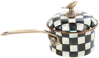 Mackenzie Childs Courtly Check Enamel Saucepan