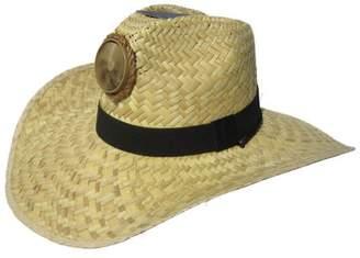 Kool Breeze Solar Hats Kool Breeze Solar Cooling Straw Hat - Gentleman (Natural) Hat w. Wide Band - (L)