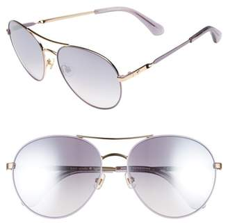 Kate Spade Joshelle 60mm Aviator Sunglasses