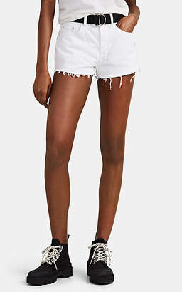 Ksubi Women's Tongue N Cheek Distressed Denim Shorts - White