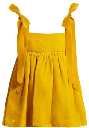 Cecilie Bahnsen - Celina Velvet Top - Womens - Yellow