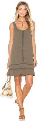 Michael Stars Double Gauze Scoop Neck Crochet Dress $178 thestylecure.com