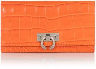 Amanda Wakeley Marrakech Orange Croc Leather Lennon Wallet