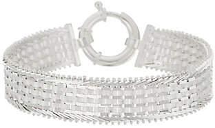 "Imperial Silver Wide Ultra Satin 8""Bracelet, 23.4g"