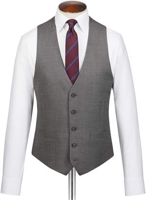 Charles Tyrwhitt Grey Adjustable Fit Jaspe Business Suit Wool Vest Size w42