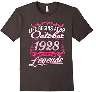 October 1928 - 89th Birthday Gift T-Shirt