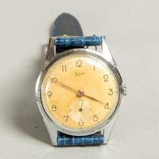 Blade + Blue Vintage Felco 1940's Swiss Made Watch