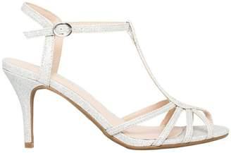 Le Château Women's Glitter T-Strap Sandal
