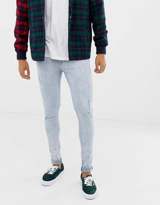 Dr. Denim leroy super skinny jeans grinded blue