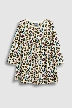 Next Girls Brown Leopard Print Dress (3mths-7yrs)