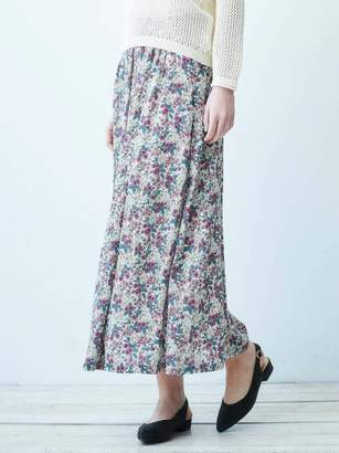 Le.coeur Blanc (ル クール ブラン) - ルクールブラン ビンテージフラワープリントマキシスカート