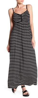 Max Studio Striped Sleeveless Maxi Dress