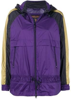 Woolrich contrast stripe hooded jacket
